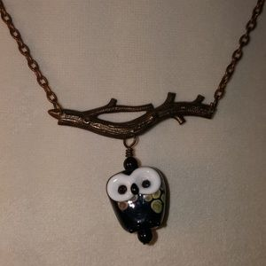 Jewelry - Owl Sitting on a Branch Necklace